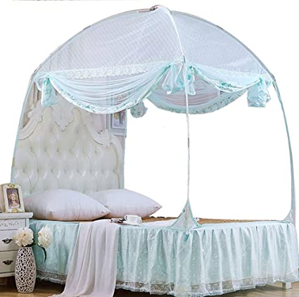 CdyBox Princess Mosquito Net Bed Tent Canopy Curtains Netting with Stand Fits Twin Full Queen (