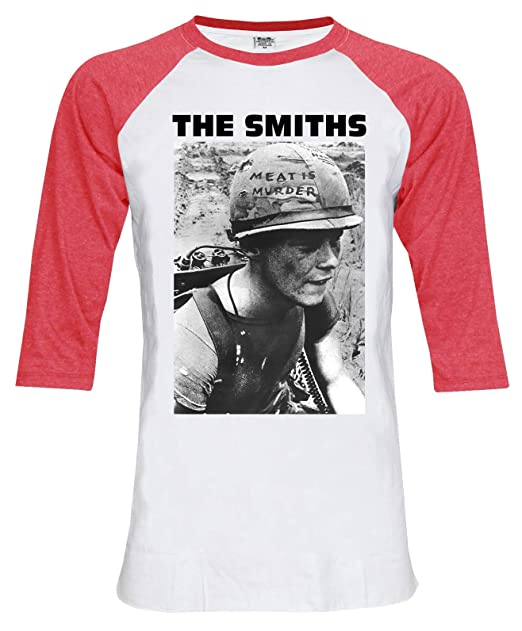 673608054de1 Amazon.com: The Smiths Meat is Murder 3/4 Sleeve Baseball Tee T-Shirt:  Clothing