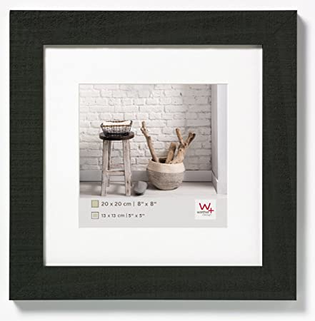 walther design HO220B Home wooden picture frame, 8 x 8 inch (20 x 20 ...