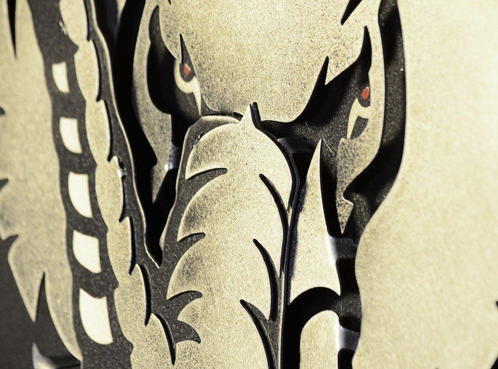 Gear New University of Alabama Big Al 3D Vintage Metal College Man Cave Art, Large, Silver/Crimson/Red/White