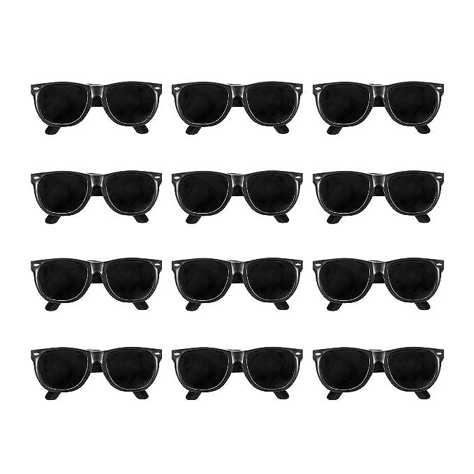 Amazon.com: Lentes de sol de plástico negro estilo ...