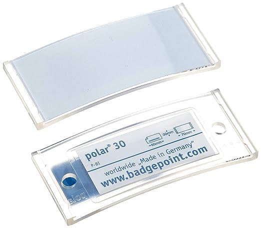 "20 Magnet-Namensschilder polar 30 ""color"", inkl. Druckbogen - transluzent klar"