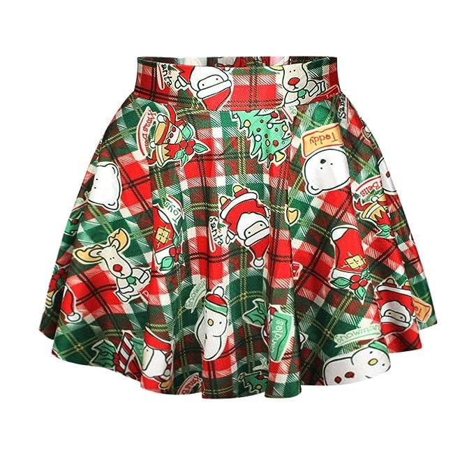 Santa Plaid Christmas Skirt
