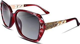 FEISEDY Classic Polarized Women Sunglasses Sparkling Crystal Composite Frame B2289