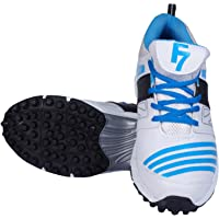 Fashion7 PVC Cricket Shoes for Mens - Lightweight, maximized Grip & Quick Actions (White)
