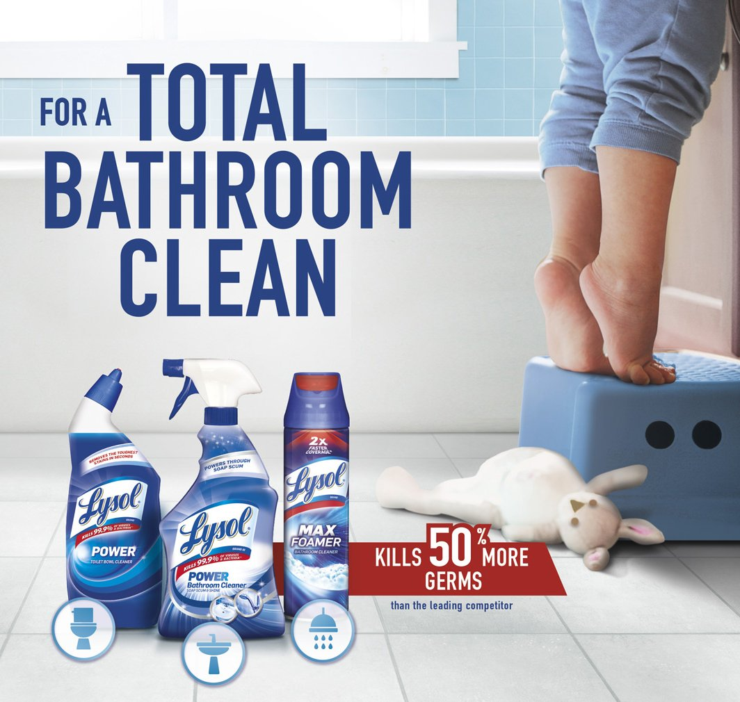 Lysol Complete Clean Toilet Bowl Cleaner with Bleach Value Pack, 2 Count by Lysol
