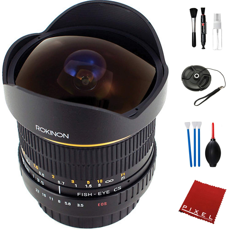 Rokinon 8mm f/3.5 魚眼レンズ Nikon F用 エッセンシャルアクセサリー付き   B07ND1CBL4