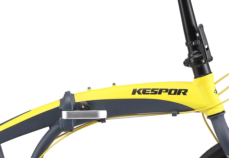 Disc Brake Shimano 8 Speed Alloy Easy Folding 20-inch Wheels KESPOR Thunderbolt D8 Folding Bike for Adults