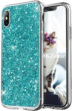 OKZone Funda iPhone X Carcasa Purpurina, Cárcasa Brilla Glitter ...