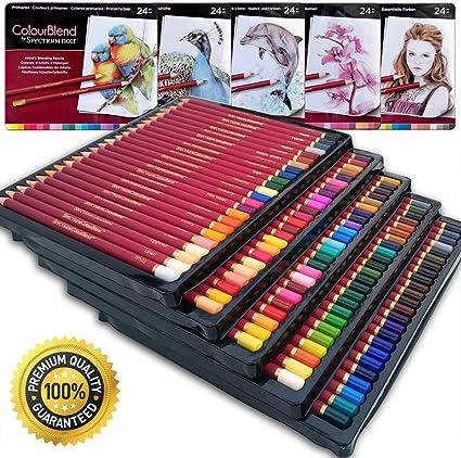 Lapices de Colores de calidad premier con núcleo suave,120 Lápices de Colores profesional con Caja de Metal -Colores Únicos- Conjunto Ideal para Artistas, Adultos y Niños: Amazon.es: Oficina y papelería