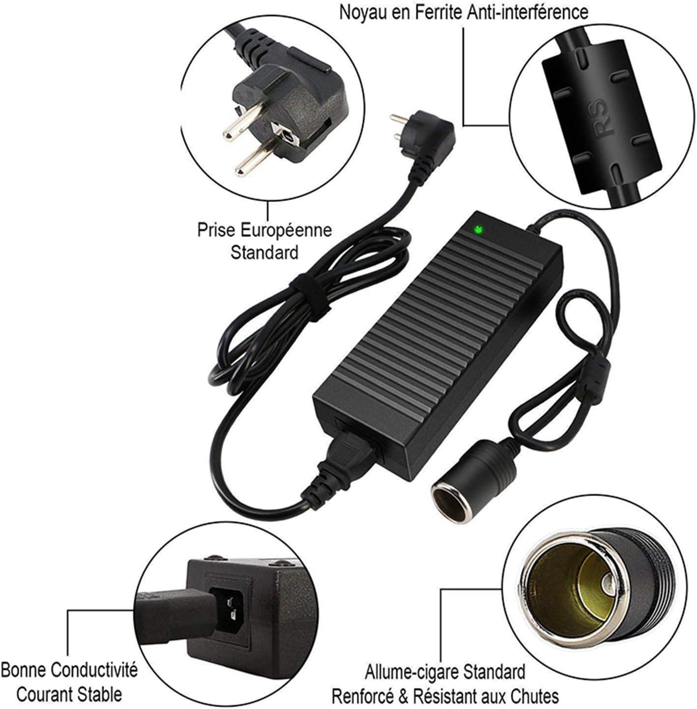 Fanuse Adaptador Corriente para Autom/óVil Transformador de Voltaje 100-220V 240V AC una 12V Adaptador de Red Enchufe de la UE 230 120W 12V 10A Adaptador Fuente Alimentaci/óN AC