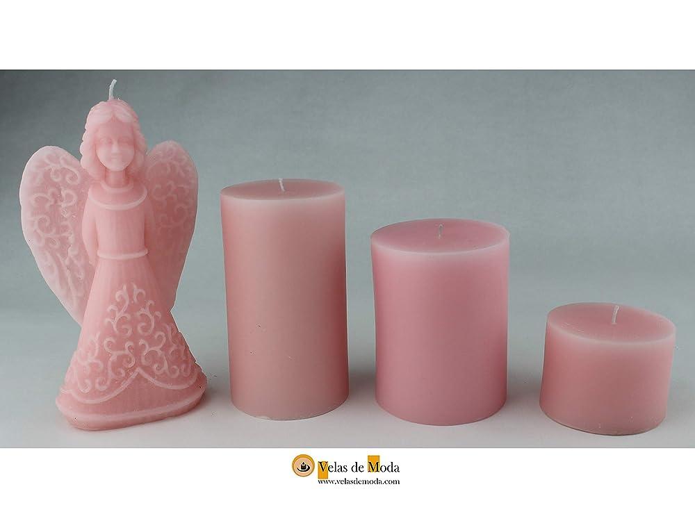 VELAS. PROTECCIÓN. Pack de cuatro velas un ángel y tres velas ...