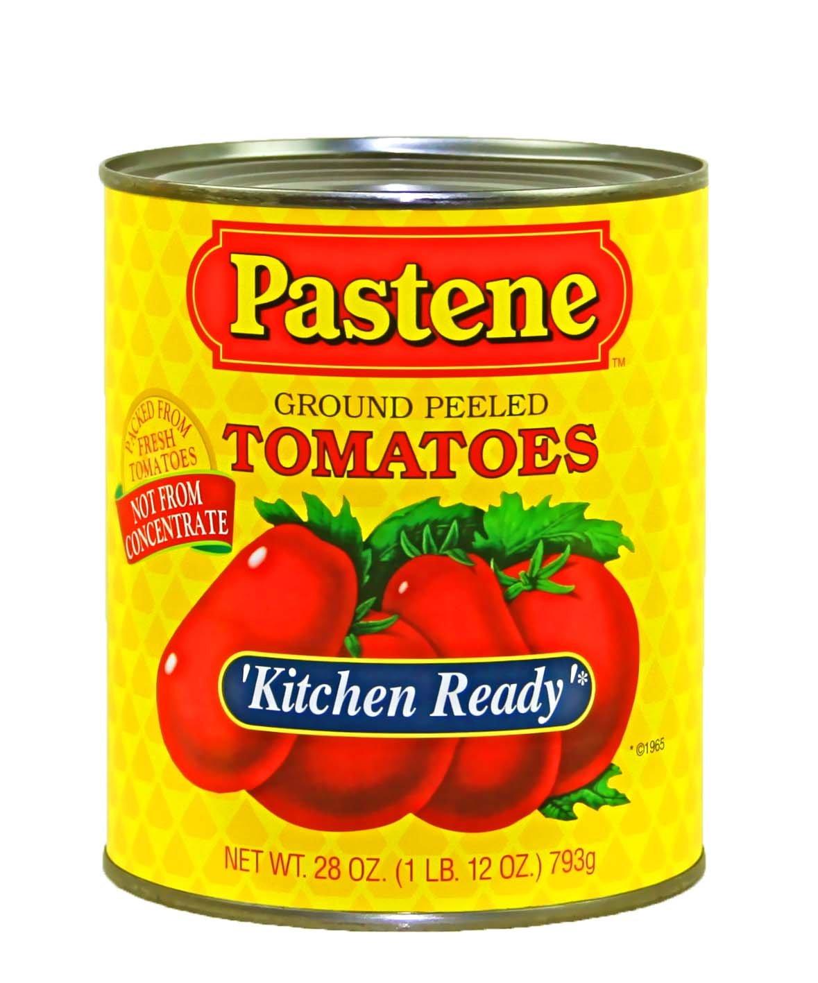 Pastene Kitchen Ready Ground Peeled Tomatoes Net Wt 28 Oz Amazon De Grocery