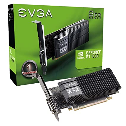 EVGA GeForce GT 1030 SC 2GB GDDR5 Passive, Low Profile Graphics Card 02G-P4