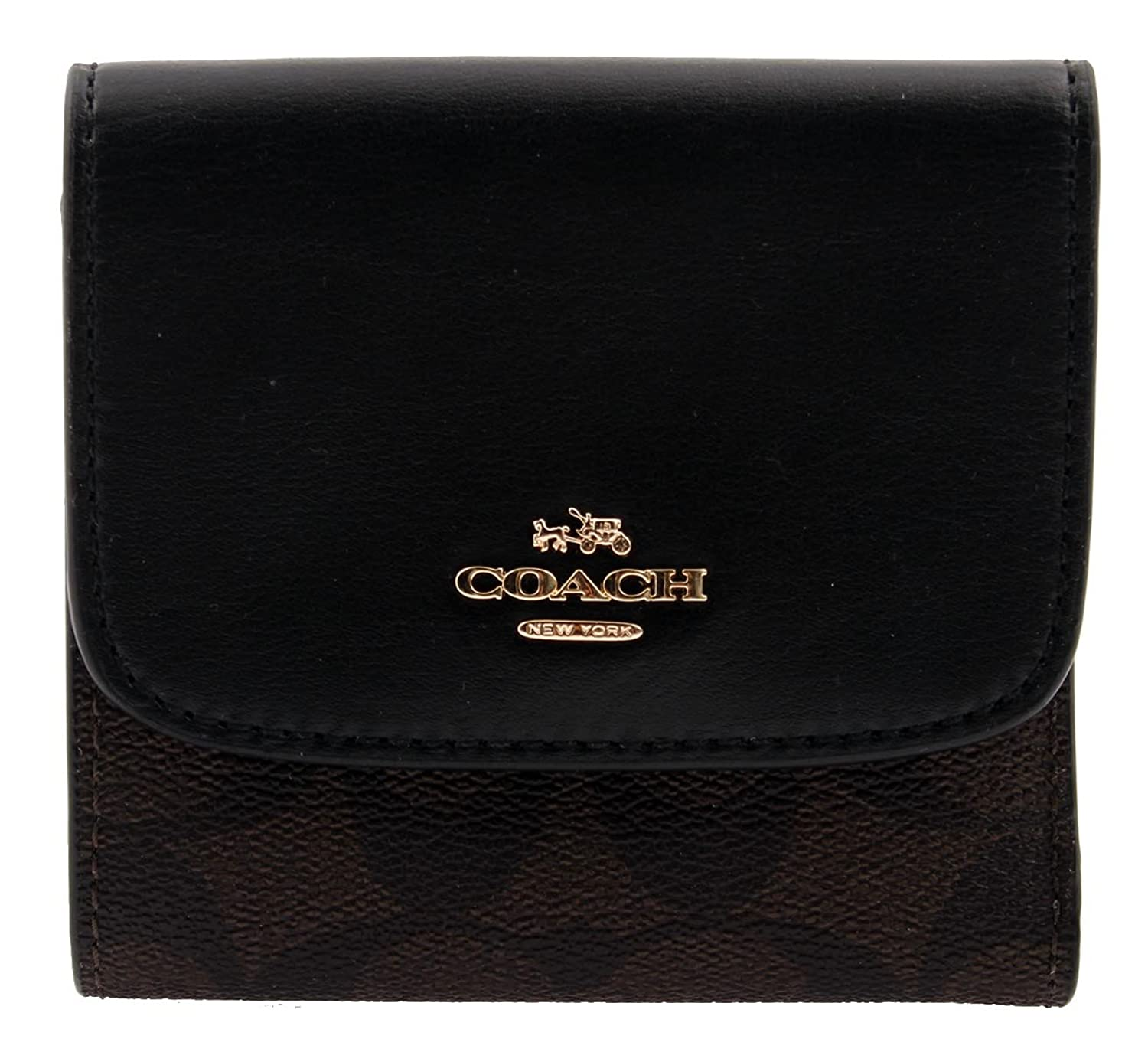Amazon.com: COACH Small Wallet in Signature Coated Canvas, F87589: Clothing