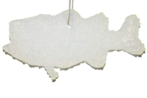 ChicWick Car Candle Leather and Lace Texas Shape Car Freshener Fragrance