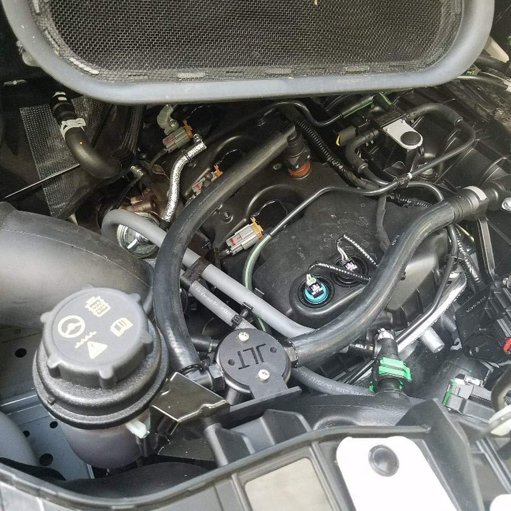JLT Oil Separator 3.0 Passenger side, Black Anodized (2015-2019 Transit 3.5 EB) JLT Performance 3025P-B