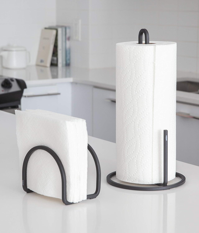 One Size Umbra 1005748-040 Squire Napkin Holder for Kitchen Black