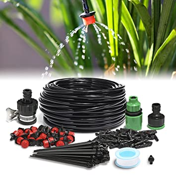 KING DO WAY Kit De 25m Réglable Irrigation Goutte À Goutte Arrosage Micro  Arroseur Avec 30 637ad3f8db1b