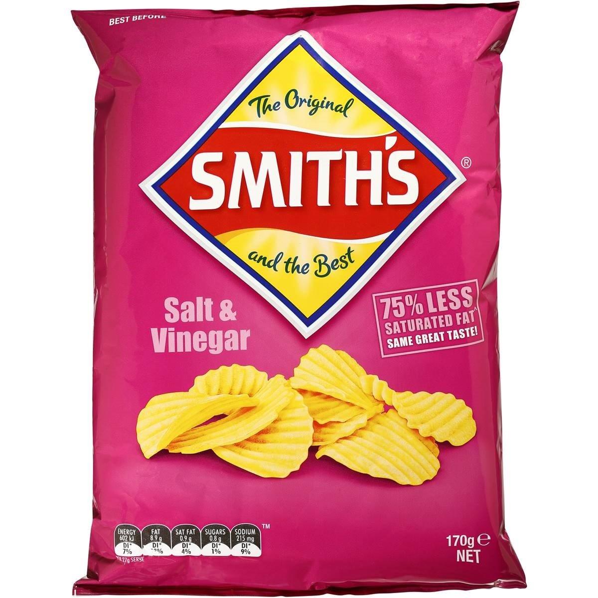 are smiths salt and vinegar chips gluten free