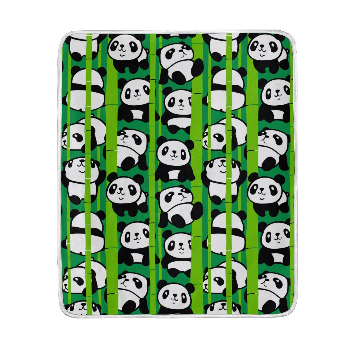 My Little Nest Warm Throw Blanket Pandas Bamboo Forest Lightweight Microfiber Soft Blanket Everyday Use for Bed Couch Sofa 50'' x 60''