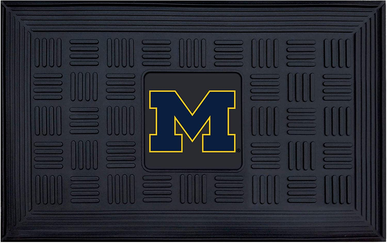 """FANMATS - 11365 NCAA University of Michigan Wolverines Vinyl Door Mat 19""""x30"""""""