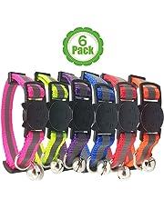 Bemix Pets Reflektierendes Katzenhalsband mit Glocke, 3er Set, Robust, Nylon, Coole Halsbänder für Hauskatzen
