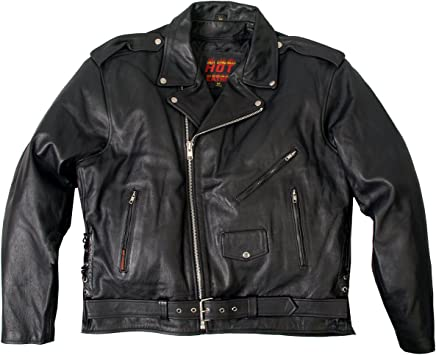 New Mens Black PU Leather collar slim MOTORCYCLE JACKET Coat Biker ZipOut Liner