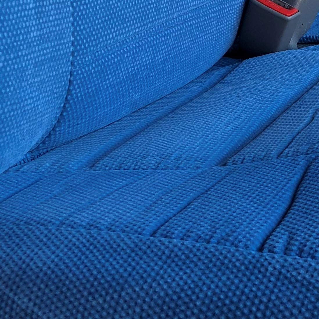 Blue RealSeatCovers for Front Bench Thick A25 Molded Headrest Small Notched Cushion Seat Cover for Toyota Pickup 1990-1995