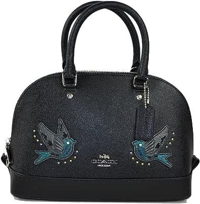 Coach Mini Sierra White Satchel Handbag Dome Purse With Pair of Birds