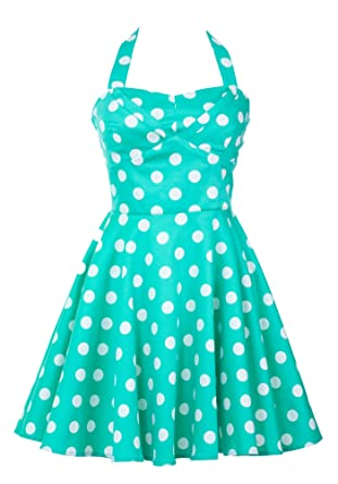 56674b17b1 Ixia Polka Dot A-line 50s Pinup Dress at Amazon Women's Clothing store: