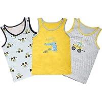 L PATTERN 3 Pack Camisetas sin Mangas para Niños Camiseta de Tirantes Niño Camiseta Interior de Algodón Niño Chaleco…
