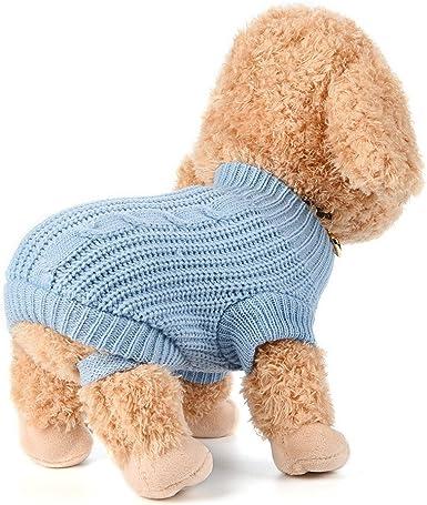 Fossrn Ropa Perro Peque/ño Chihuahua Yorkshire Pomerania Invierno Jersey de Punto c/álido su/éter Cachorro Abrigo
