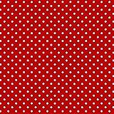 Erstklassiger Baumwollstoff 0,5lfm, 100% Baumwolle, modische Muster, Breite 160cm – Mohn rot 2mm