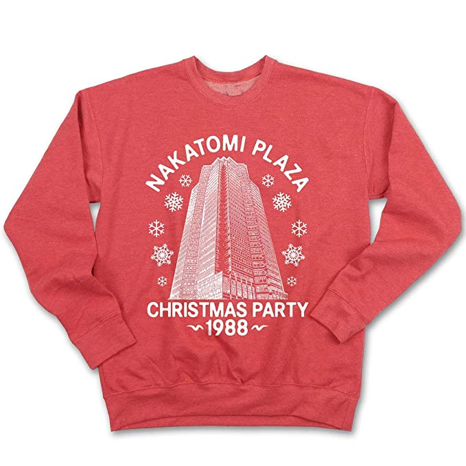 Spencers Ugly Christmas Sweaters.Fluffy Crate Nakatomi Plaza Ugly Christmas Sweatshirt Funny Pop Culture