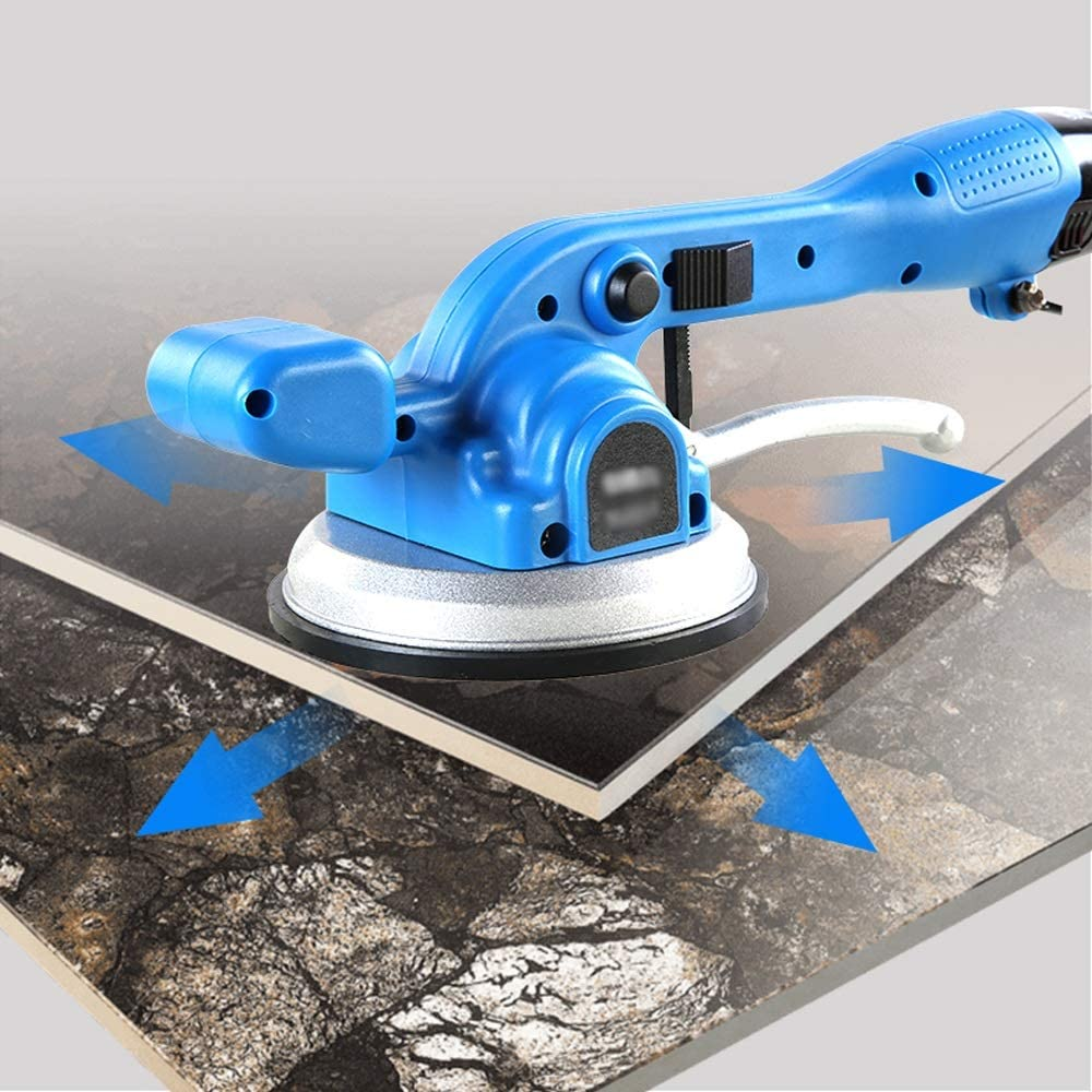 Tile Vibration Machine Aluminum Head Shell Lithium Battery Tile Paving Tool Frequency Conversion 6 Speed Color : A, Size : 2battery Changde JF Shop- Tile Installation Machine