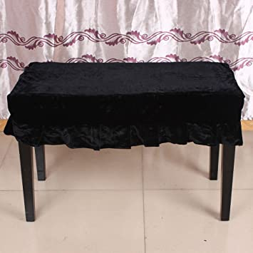 Wondrous Andoer Universal Piano Stool Chair Bench Cover Pleuche Decorated With Macrame 75 35Cm For Piano Dual Seat Bench Black Uwap Interior Chair Design Uwaporg
