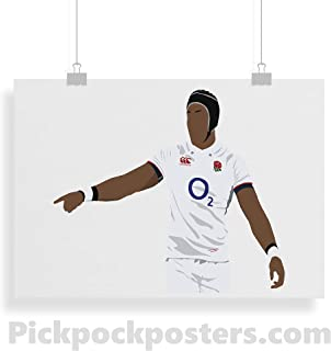 Minimalist Style Frame Not Included Print- Art Various Sizes Available - Maro Itoje Inspired Poster