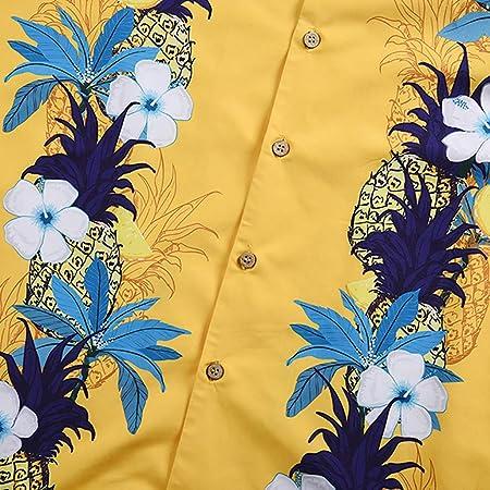 Camisas Hawaiana Hombre Manga Corta Camisas Estampadas Flores Camisas Playa Verano Vacaciones Tops Sueltas Top Suave Ligero Camiseta Transpirable Blusa Original étnico Estilo