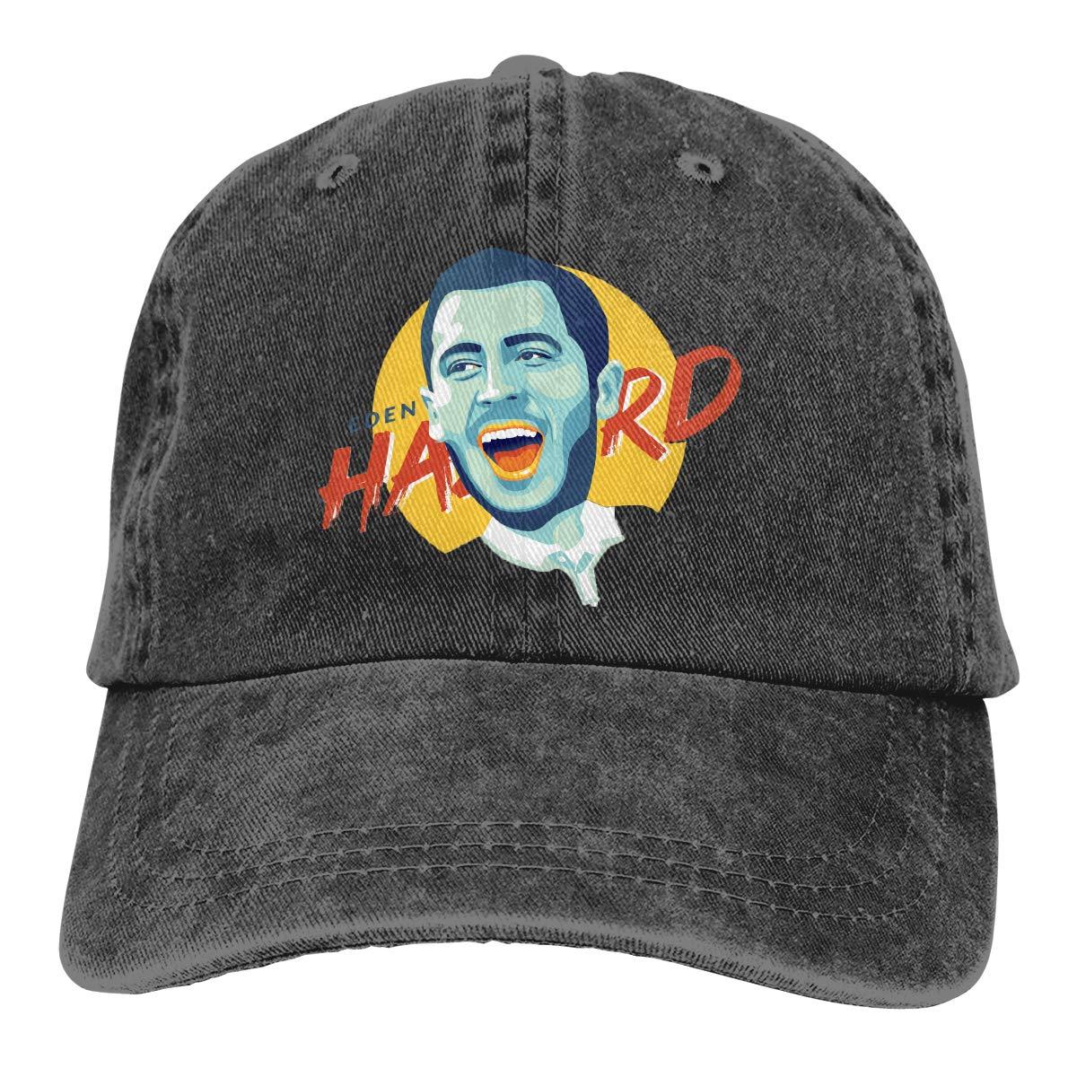DeniCar Unisex Adjustable Baseball Caps Eden-Hazard-Happy-Face-Logo Cowboy Skull Cap