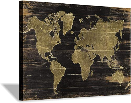 World Map Canvas Wall Art: Map