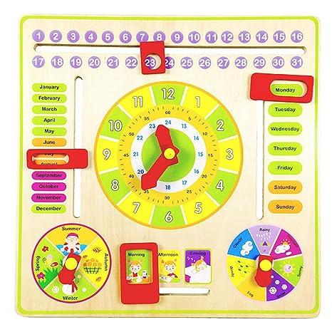 Calendario Legno Bambini.Sipliv Calendario In Legno Calendario Bambini Calendario
