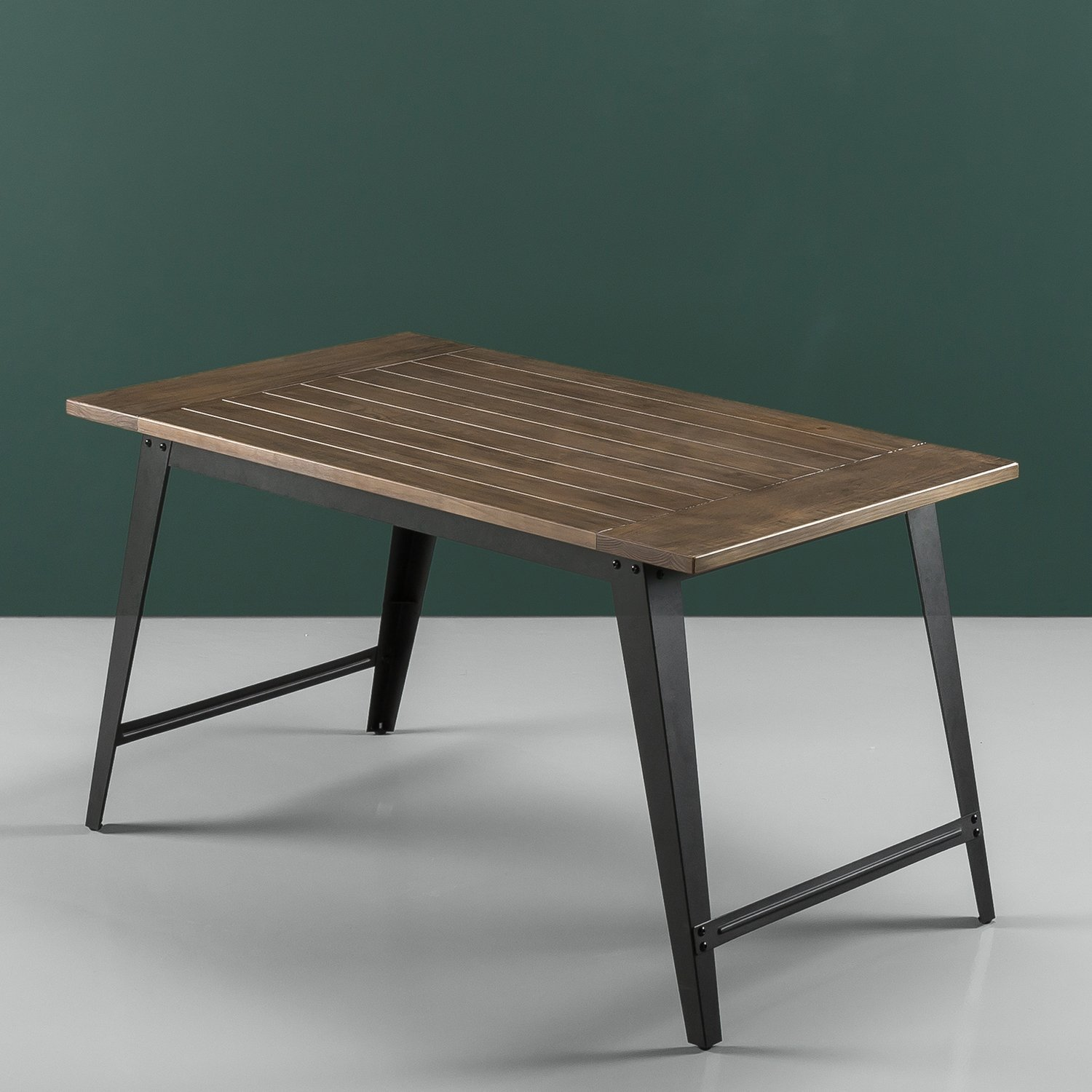 Zinus Wood and Metal Dining Table