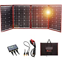 Dokio 200 Watts 12 Volts Foldable Solar Panel Monocrystalline with Inverter Charge Controller