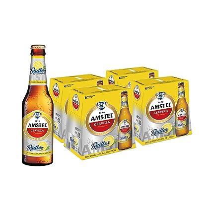 Amstel Radler Limon Cerveza - 4 Packs de 6 Botellas x 250 ml - Total: