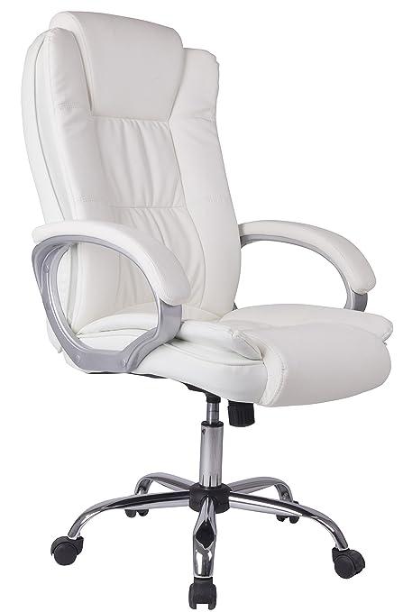 Sedie Ufficio Stock.Venta Stock Sedia Direzionale Da Ufficio Confort 2 Regolabile In Pelle Sintetica Bianco