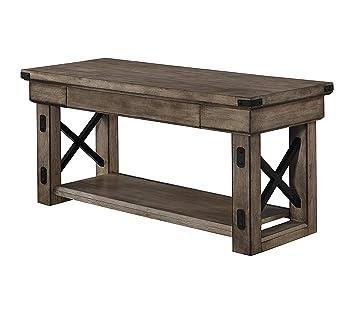 Amazon.com: Wildwood - Banco de entrada de madera de chapa ...