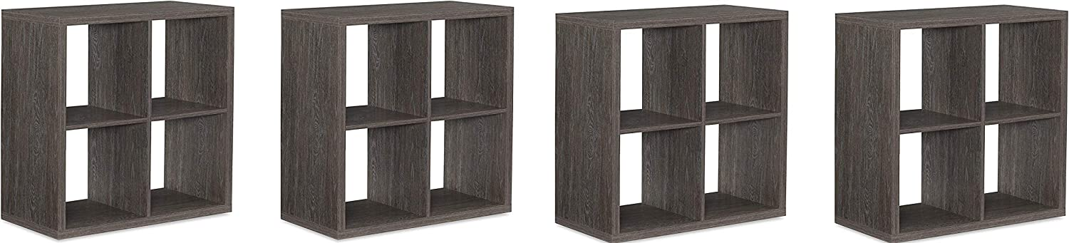 Linon Home Decor Linon Dawes 4 Cabinet Grey Cubby Storage (Pack of 4)