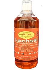Lachsöl, 100% kaltgepresste Premiumqualität, 1 Ltr. Flasche, portofrei
