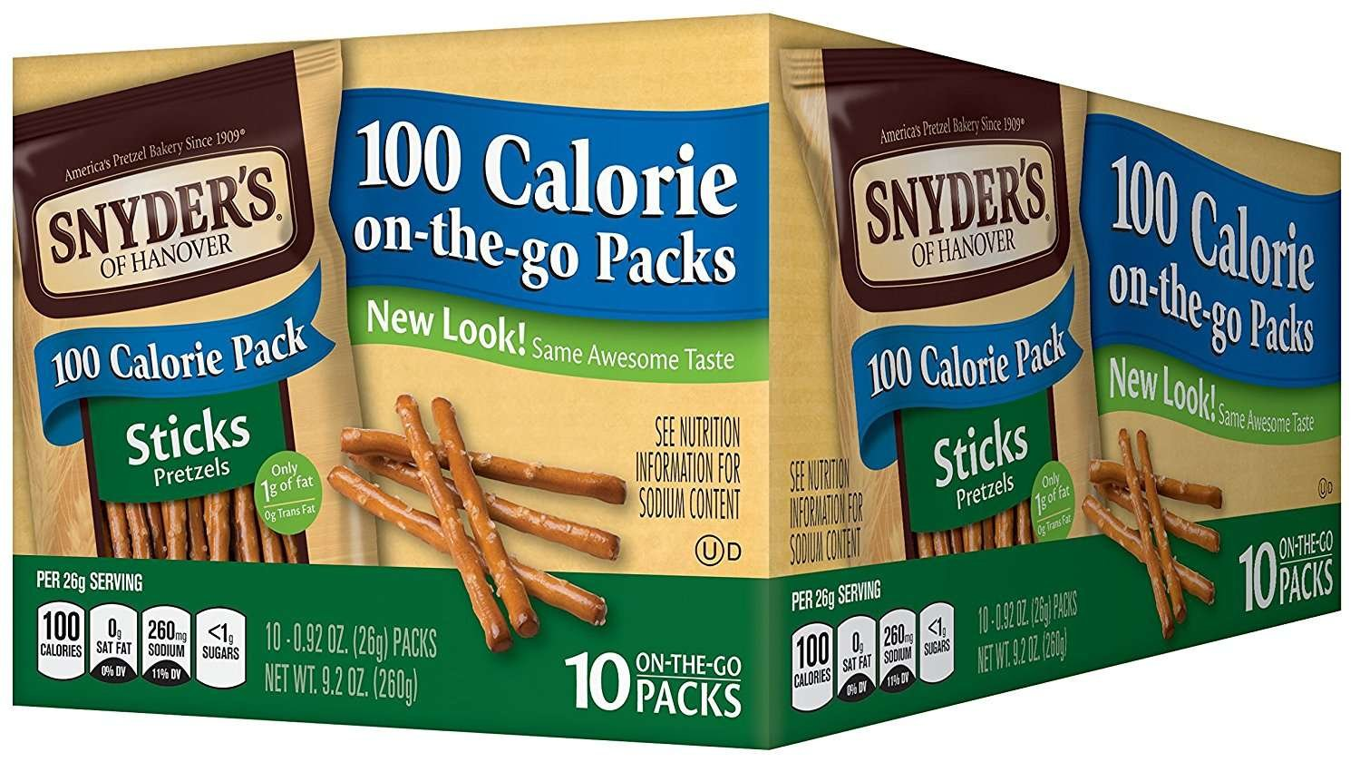 Snyder's Of Hanover Pretzel Sticks, 100 Calorie Bags, 10 Count by Snyder's Of Hanover